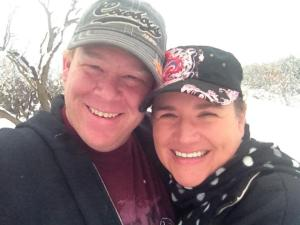 Jon & Chireen playing in the snow