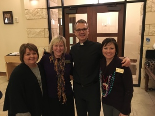 Fr Ron with Della, Teresa, Mary